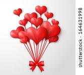 valentine's day heart balloons... | Shutterstock .eps vector #164631998