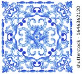 azulejos   portuguese dutch and ... | Shutterstock .eps vector #1646362120
