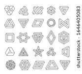 set of geometric elements ... | Shutterstock .eps vector #1646405083