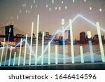 financial graph on night city... | Shutterstock . vector #1646414596