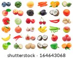 collection of various fruits... | Shutterstock . vector #164643068