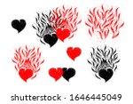 Set With Hearts. Cute Handmade...