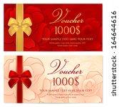 voucher  gift certificate ... | Shutterstock .eps vector #164644616