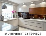 Stock photo clean modern kitchen 164644829