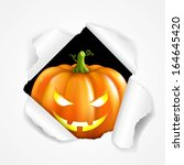 happy halloween poster  with... | Shutterstock .eps vector #164645420