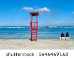 Red Lifeguard Tower Abandoned...