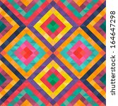 colorful seamless geometric... | Shutterstock .eps vector #164647298