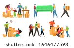 people moving boxes and...   Shutterstock .eps vector #1646477593