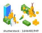 isometric business grow finance ... | Shutterstock .eps vector #1646481949
