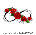 Infinity Symbol With Red Roses...