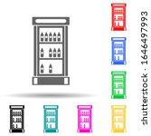 show window with drinks multi...