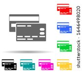 credit cards multi color style...