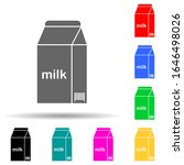 milk packaging multi color...
