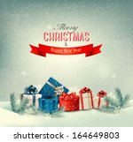 christmas winter background... | Shutterstock .eps vector #164649803