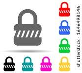 lock multi color style icon....
