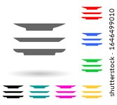 dishes multi color style icon....