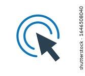 arrow pointer glyph icon vector ...