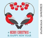 christmas and new year holidays ... | Shutterstock .eps vector #164650823