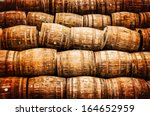 stacked pile of old whisky and... | Shutterstock . vector #164652959