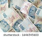 turkish liras. 100 tl turkish... | Shutterstock . vector #1646545603