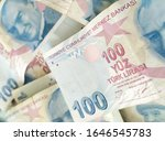 turkish liras. 100 tl turkish... | Shutterstock . vector #1646545783