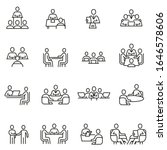 vector set of linear icons... | Shutterstock .eps vector #1646578606