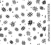black hashtag icon isolated...