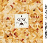 restaurant menu design | Shutterstock .eps vector #164659589