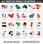 all maps of world countries and ... | Shutterstock .eps vector #1646603620