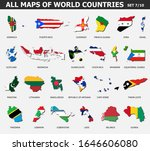 all maps of world countries and ...   Shutterstock .eps vector #1646606080