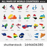 all maps of world countries and ...   Shutterstock .eps vector #1646606380