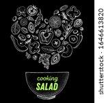 salad sketch. heart salad... | Shutterstock .eps vector #1646613820
