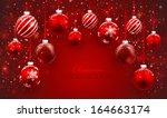 christmas balls | Shutterstock .eps vector #164663174