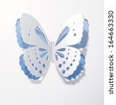 Lace Butterfly Cut Out Of Paper ...