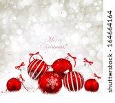 christmas balls | Shutterstock .eps vector #164664164