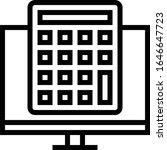 calculator   ecommerce icon set....