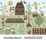 vector illustration of garden... | Shutterstock .eps vector #1646651020