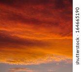 beautiful sky at sundown with... | Shutterstock . vector #164665190