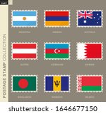 postage stamp with flag ... | Shutterstock .eps vector #1646677150