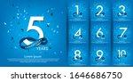 set of 1st 10th anniversary... | Shutterstock .eps vector #1646686750
