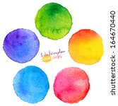 colorful vector isolated... | Shutterstock .eps vector #164670440