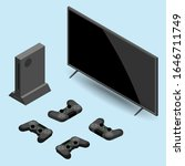 video game console and... | Shutterstock .eps vector #1646711749