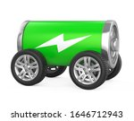 battery with wheels isolated.... | Shutterstock . vector #1646712943