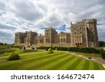 windsor castle near london ... | Shutterstock . vector #164672474