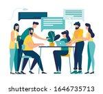 vector illustration  workers... | Shutterstock .eps vector #1646735713
