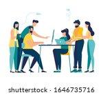 vector illustration  workers... | Shutterstock .eps vector #1646735716