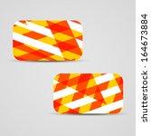 vector business card  set for... | Shutterstock .eps vector #164673884