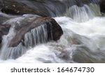 fast flowing water cascading...