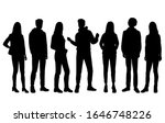vector silhouettes of  men and... | Shutterstock .eps vector #1646748226
