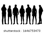 vector silhouettes of  men and... | Shutterstock .eps vector #1646753473
